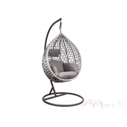Кресло подвесное Sedia HAWAII серый/серо-бежевый