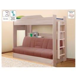Кровать Боровичи-мебель Двухъярусная с диван-кроватью