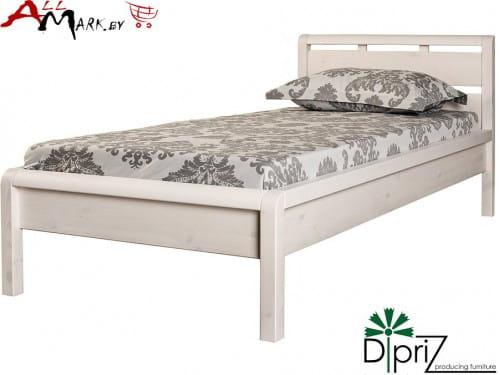 Односпальная кровать Д 8143 Диприз Мадейра из массива сосны