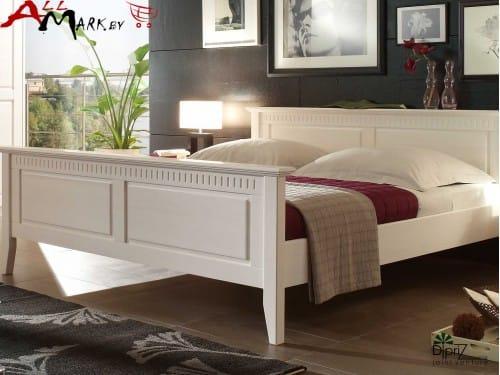 Двуспальная кровать Д 7183-12 Диприз Боцен из массива сосны
