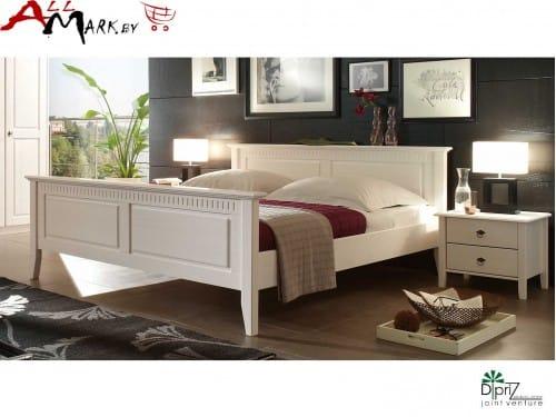Двуспальная кровать Д 7183-11 Диприз Боцен из массива сосны