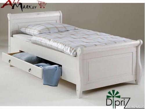 Односпальная кровать Мальта Диприз Д 8180 100x200 с ящиками из массива сосны