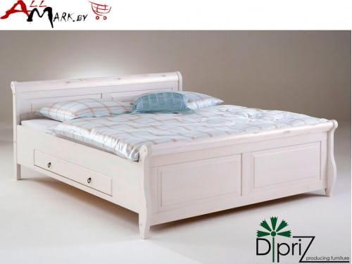 Двуспальная кровать Мальта Диприз Д 8184 с ящиком из массива сосны