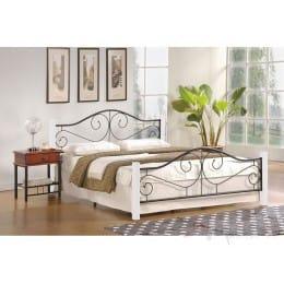 Кровать Halmar Violetta 120 белый / черный
