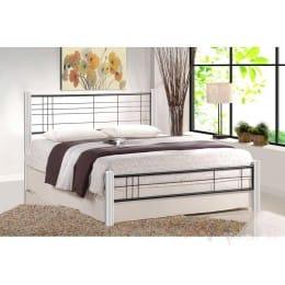Кровать Halmar Viera 120 белый / черный