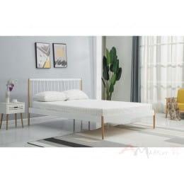Кровать Halmar Lemi 120 белый / дуб