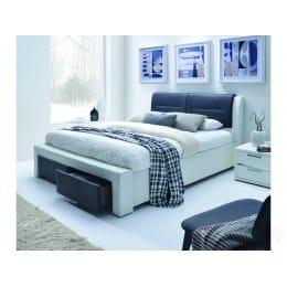 Кровать Halmar Cassandra-s 140 белый / черный