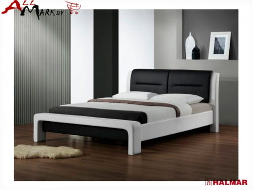Двуспальная кровать Halmar Cassandra из экокожи
