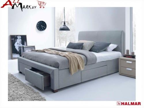 Двуспальная кровать Halmar Modena с выдвижными ящиками