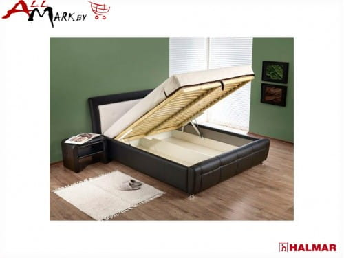 Двуспальная кровать Halmar Samanta P из экокожи