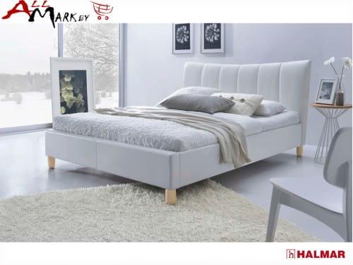 Двуспальная кровать Halmar Sandy экокожа