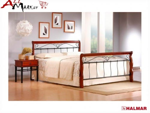 Двуспальная кровать Halmar Veronica 160 из металла и дерева