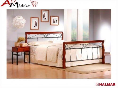 Двуспальная кровать Halmar Veronica 180 из металла и дерева
