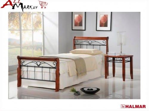 Односпальная кровать Halmar Veronica из металла и дерева