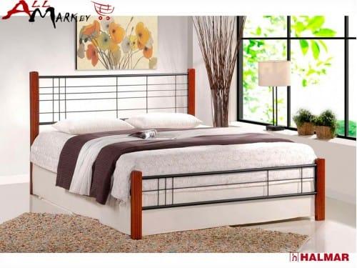 Двуспальная кровать Halmar Viera 160 из металла и дерева