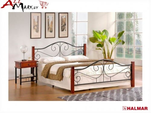 Двуспальная кровать Halmar Violetta 160 из металла и дерева