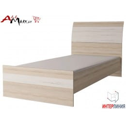 Кровать Интерлиния Коламбия КЛ-001-3 дуб сонома / дуб белый