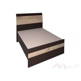 Кровать Интерлиния Коламбия КЛ-001-3 венге / дуб серый