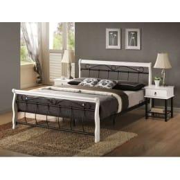 Кровать Signal Venecja 160x200 белый / черный