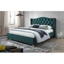 Кровать Signal Aspen velvet bluvel 78 140x200, зеленый/дуб
