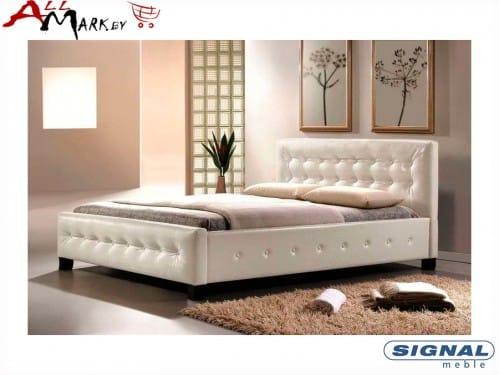 Двуспальная кровать Signal Barcelona из экокожи
