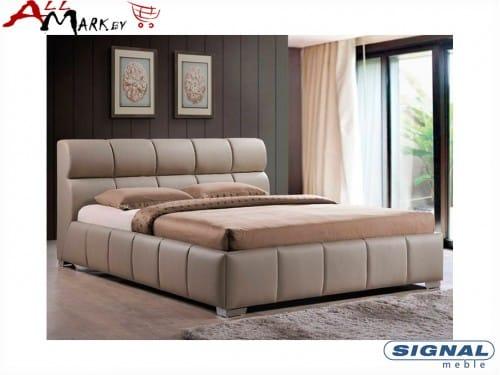 Двуспальная кровать Signal Bolonia из экокожи