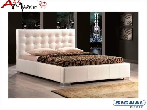 Двуспальная кровать Signal Calama из экокожи