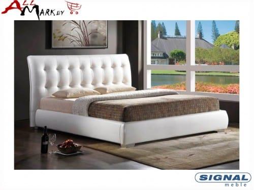 Двуспальная кровать Signal Calenzana 160 из экокожи