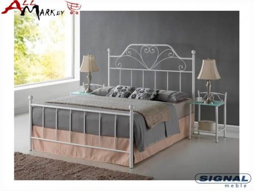 Двуспальная металлическая кровать Signal Lima