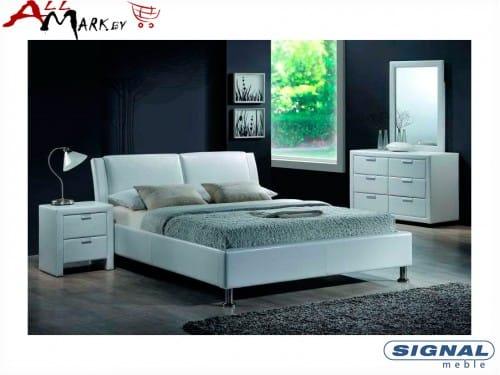 Двуспальная кровать Signal Mito из экокожи