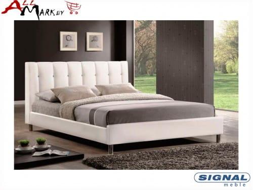 Двуспальная кровать Signal Nadi из экокожи
