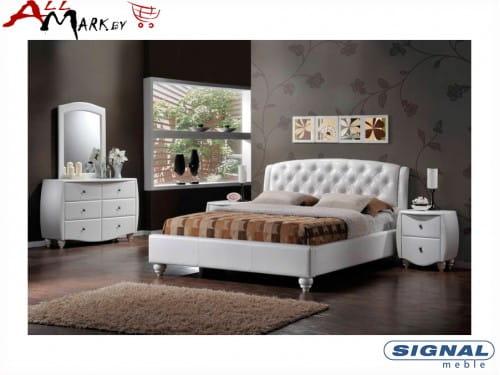 Двуспальная кровать Signal Potenza из экокожи
