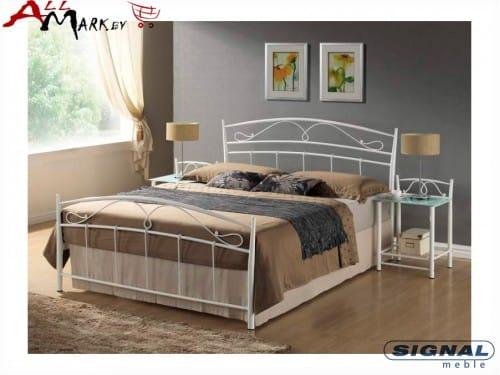 Двуспальная металлическая кровать Signal Siena 160
