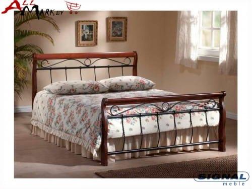 Полутораспальная кровать Signal Venecja 140 из металла и дерева