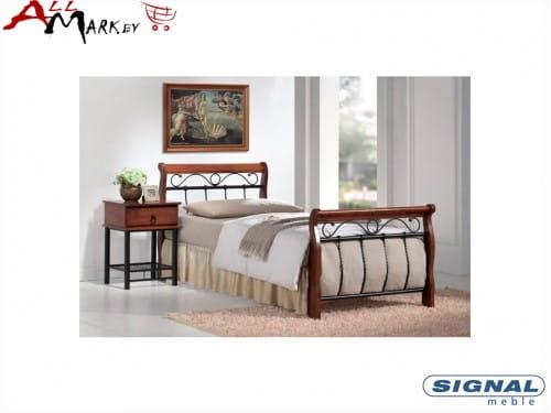 Односпальная кровать Signal Venecja 90 металл дерево