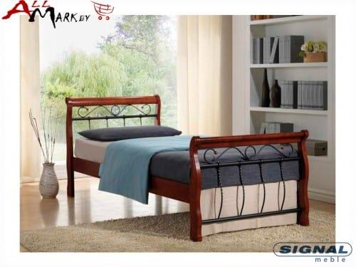 Односпальная кровать Signal Venecja bis 90 металл дерево