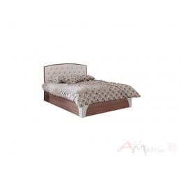 Кровать SV-мебель Лагуна 7 160x200 со стразами ясень шимо темный / жемчуг