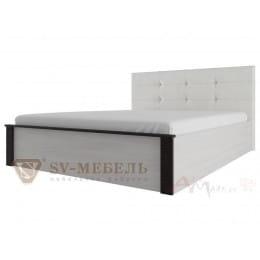 Кровать SV-мебель Гамма 20 140x200 с мягким изголовьем ясень анкор светлый / венге