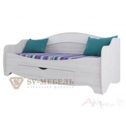 Кровать SV-мебель Акварель 1 80x200 ясень анкор светлый / белый матовый