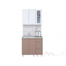 Кухня Интерлиния АРТ Мила 09, шоколад / белый