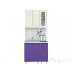 Кухня Интерлиния АРТ Мила 09, фиолетовый / ваниль