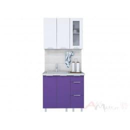 Кухня Интерлиния АРТ Мила 09, фиолетовый / белый