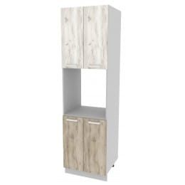 Шкаф-пенал кухонный Интерлиния Мила Компо ПШД-№5-2145, дуб серый / дуб белый