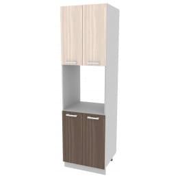Шкаф-пенал кухонный Интерлиния Мила Компо ПШД-№5-2145, шимо темный / шимо светлый