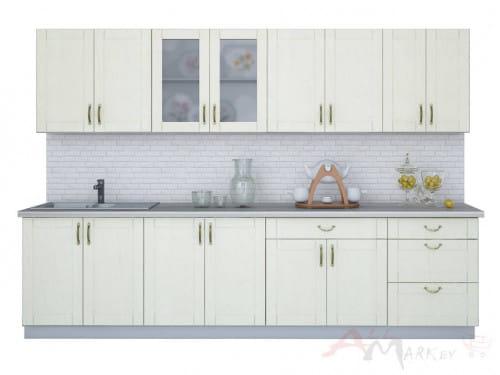 Линейная кухня Интерлиния Мила Крафт 3,0В в цвете дуб снежный
