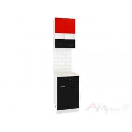 Модуль Кортекс-мебель Корнелия Экстра 50р1ш2д, красный / черный