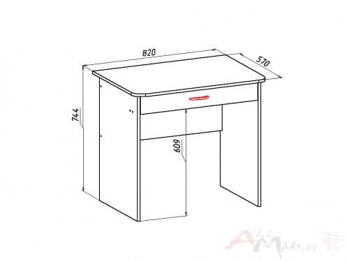 Компьютерный стол Форум Мебель-Класс, сосна карелия