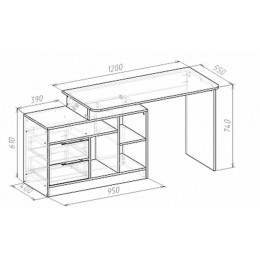 Компьютерный стол Мебель-Класс Имидж-3, сосна карелия