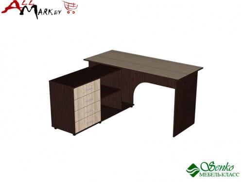 Угловой компьютерный стол Мебель-Класс Мэдисон-1, венге / дуб шамони