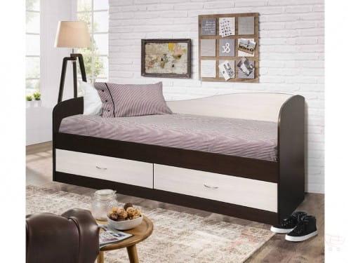 Односпальная кровать Мебель-Класс Лагуна-2, венге / дуб шамони